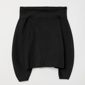 H & M Conscious Black Off the Shoulder Sweater